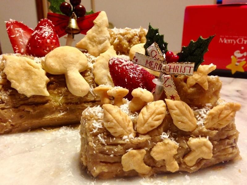 クリスマスケーキを作って持ち帰ろう!手づくりブッシュドノエルクラスの画像