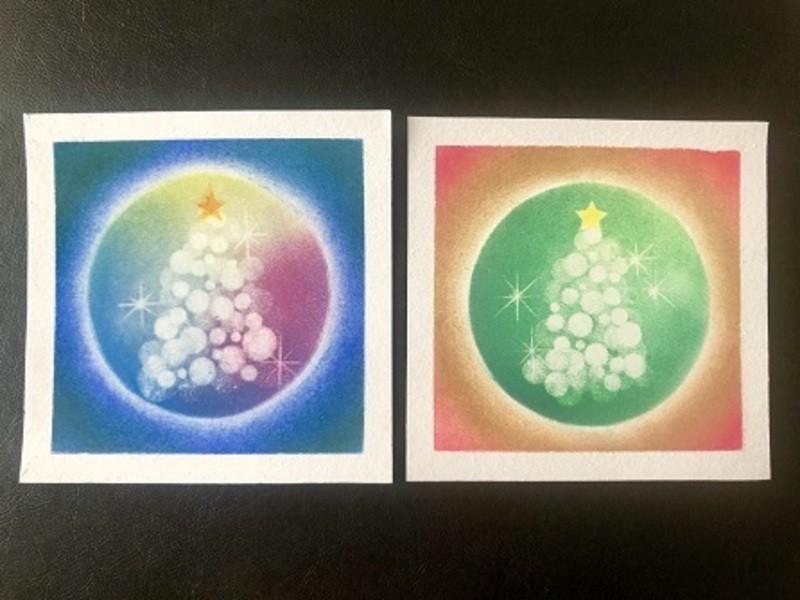 パステルアートでクリスマスアート♪の画像