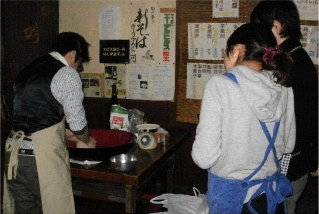本格的な日本蕎麦の手打ち蕎麦教室