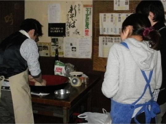 本格的な日本蕎麦の手打ち蕎麦教室の画像