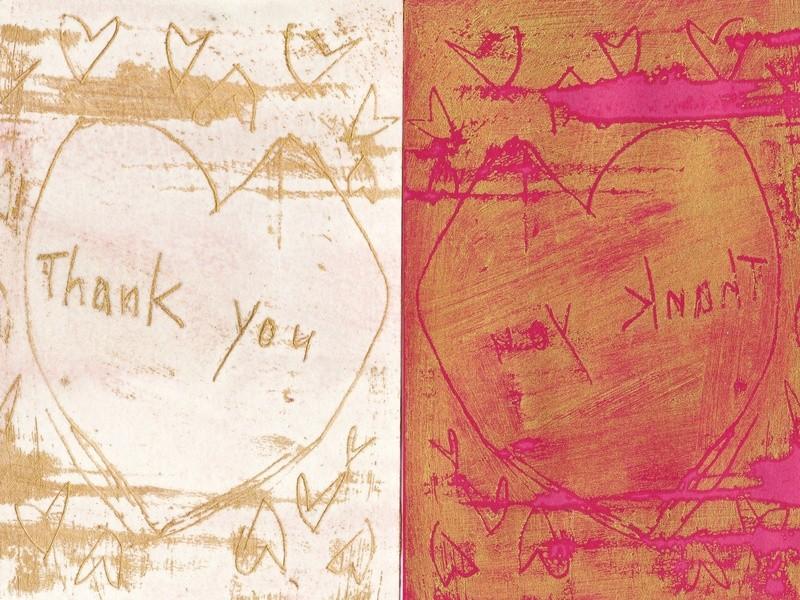 はじめての蜜蝋画で「Thank you!」カードをつくりませんか?の画像