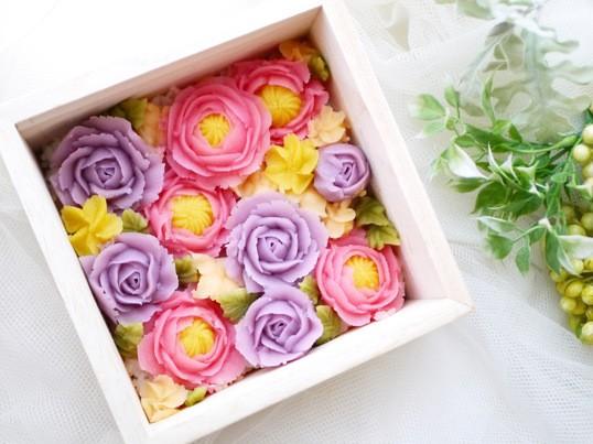 お正月限定!あんこで作るお花♡フラワーボックスおはぎレッスン♡の画像