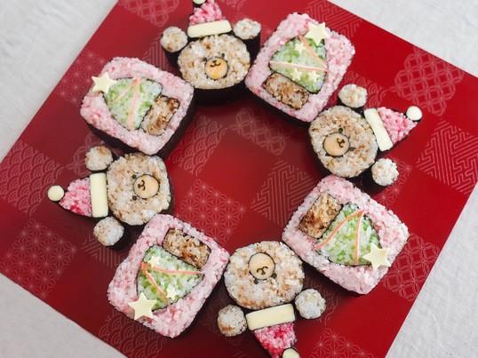 🎄クリスマス柄🎄巻き寿司レッスンの画像