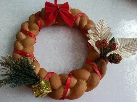 パンでクリスマスリース作り(女性限定 子連れ歓迎)の画像