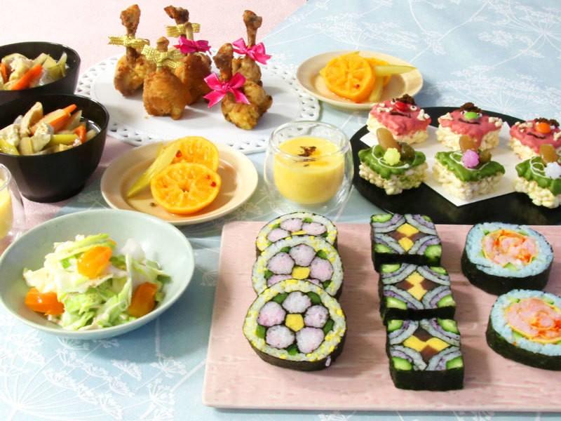 【お土産付き♪】飾り巻き寿司に挑戦!可愛いが満載♡節分レッスン👹の画像