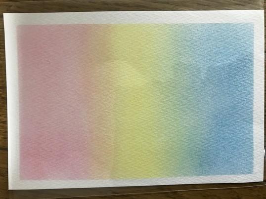 赤、黄、青の3色のパステルで素敵な絵を描いてみよう!の画像