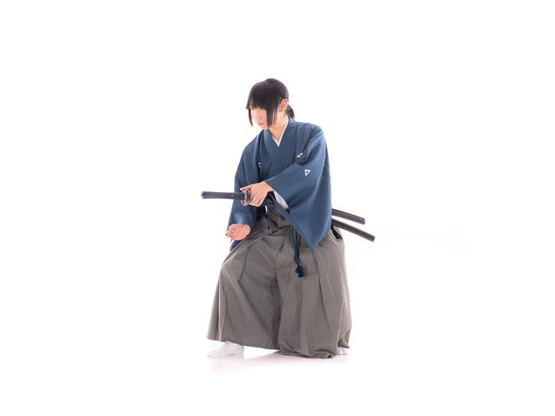 【男着物体験】女性可 初めての紋付袴着物 着付け教室の画像