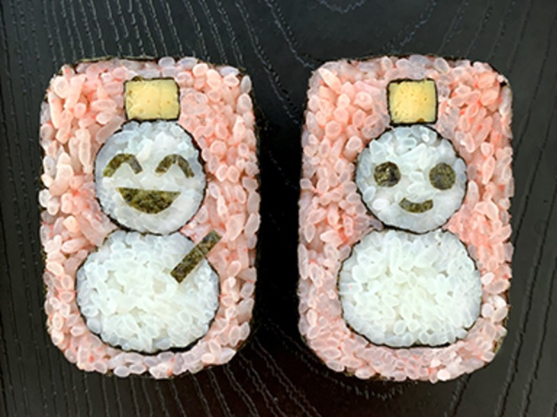 食卓が映える!女の子が喜ぶメニュー、可愛い巻き寿司を作るの画像