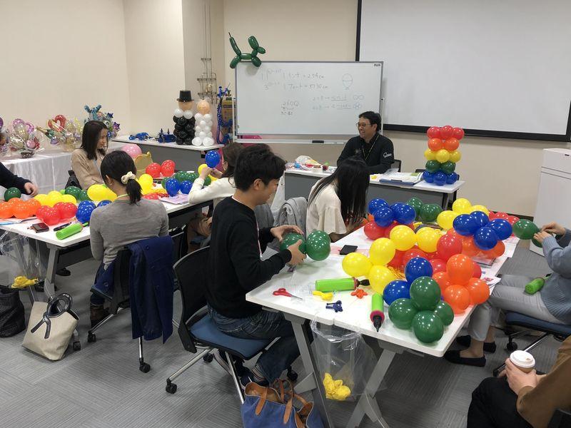 バルーンアートビジネススクール大阪 基礎Ⅰ・Ⅱの画像