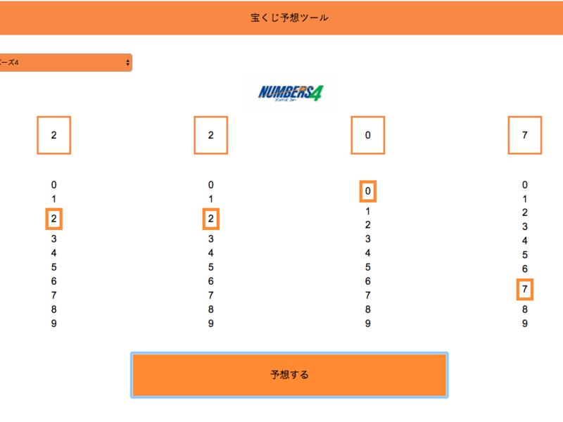 HTML・CSS・jQueryでナンバーズ予想アプリを作ってみようの画像