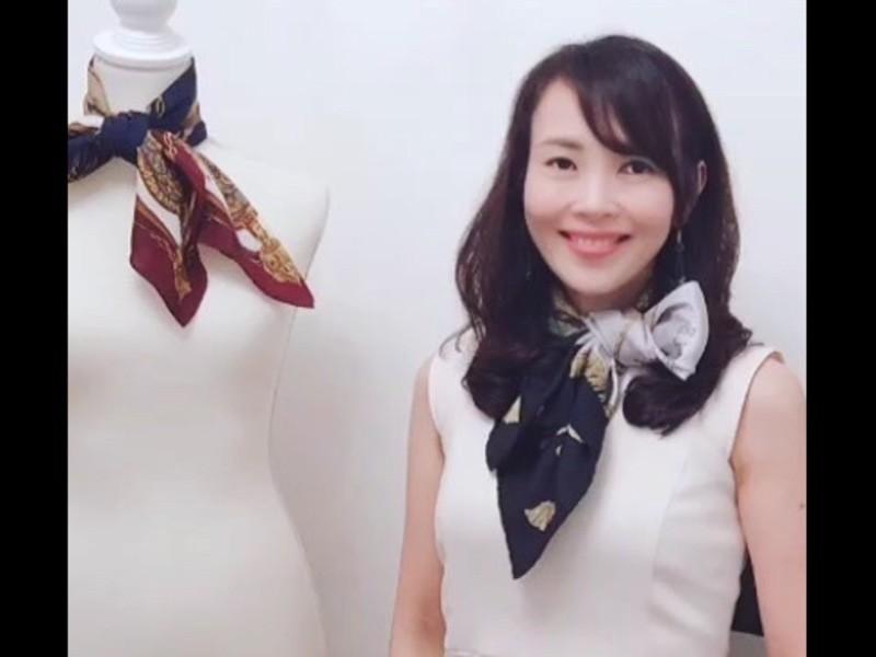 スカーフ1枚で人生が変わる!たった3分で出来る☆CA流スカーフ講座の画像