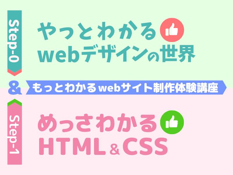 もっとわかる☆webデザインの世界&めっさわかるHTML&CSSの画像