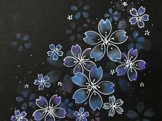 黒に描くパステルアート〈ノワール・アート〉で大人な作品を。の画像