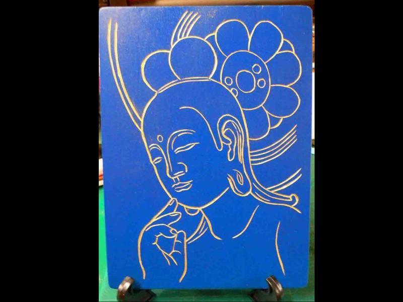 木彫・体験教室(沈金ちんきん・仏画を彫る)の画像
