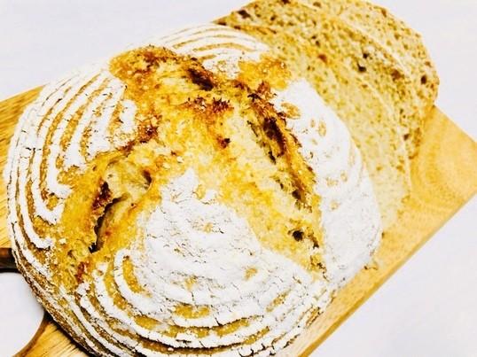 オーガニック素材・お砂糖油脂なしでヘルシー♪パン・ド・カンパーニュの画像