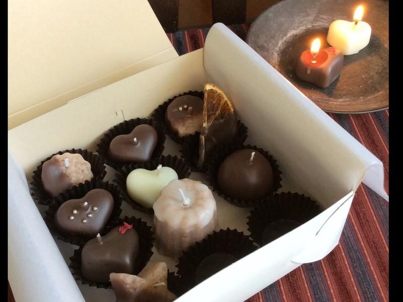甘い香り ショコラアソート&ドーナツキャンドルの画像