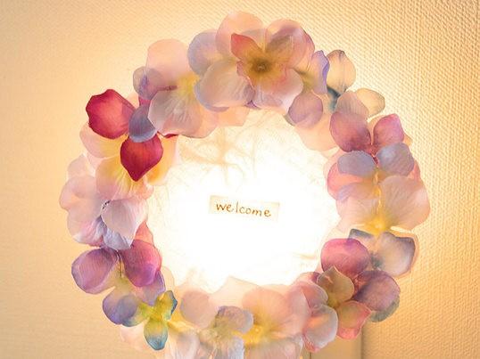 【手作りライト 今月のおすすめ!】アジサイのナイトライトの画像