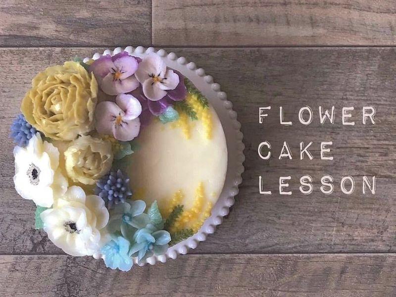 「ミモザの日♡」フラワーケーキのデコレーションを学ぼうの画像