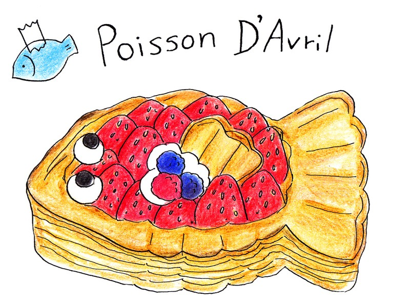 <エイプリルフールの会>苺とクリームのお魚パイ❌サバカレーパイの画像