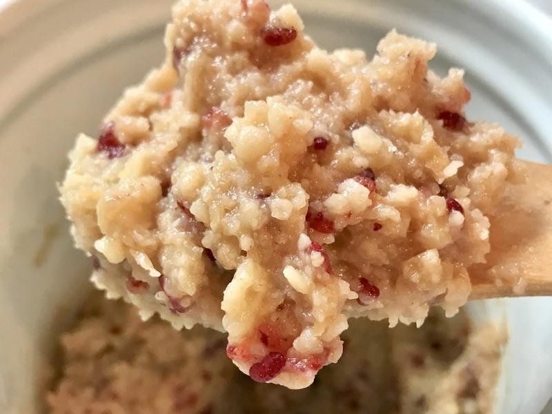 【デトックス味噌】浮腫を有機玄米麹、紅麹、薬膳素材で出そう!の画像
