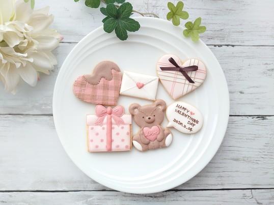 バレンタインのアイシングクッキーレッスンの画像