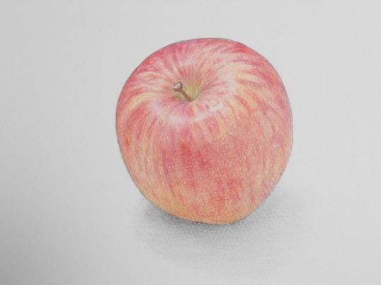 色鉛筆でりんごを描こう!の画像