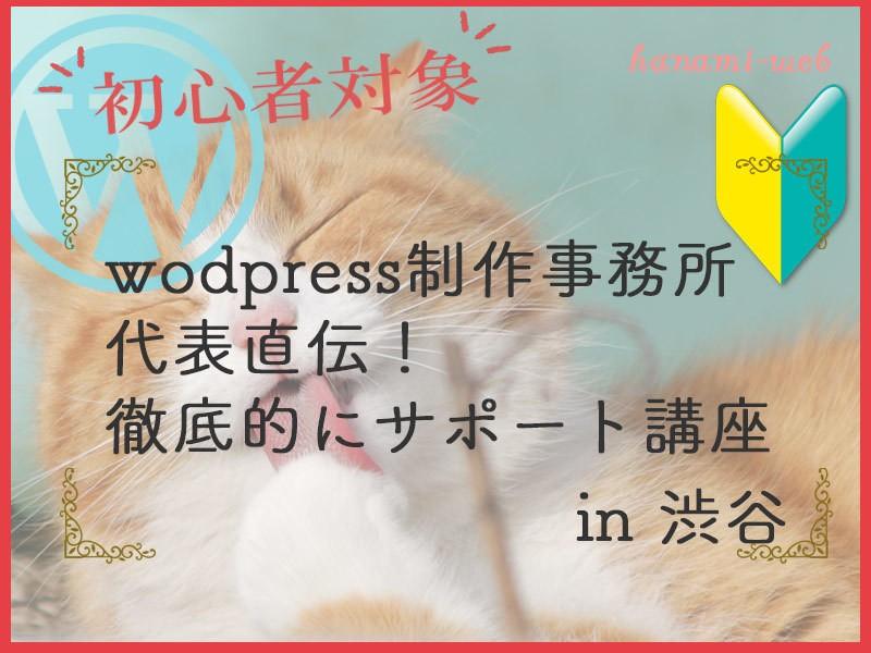 初めてのwordpressを徹底的にサポート!共同制作コース@渋谷の画像