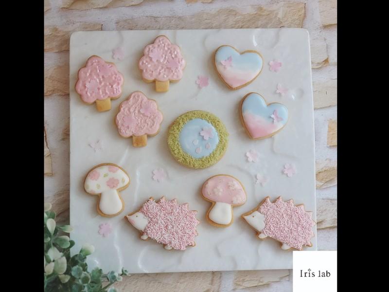 桜色でつくる春のアイシングクッキーの画像