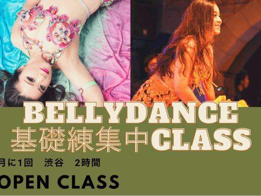 ベリーダンスの基礎ムーブメントを学ぶ集中クラスの画像