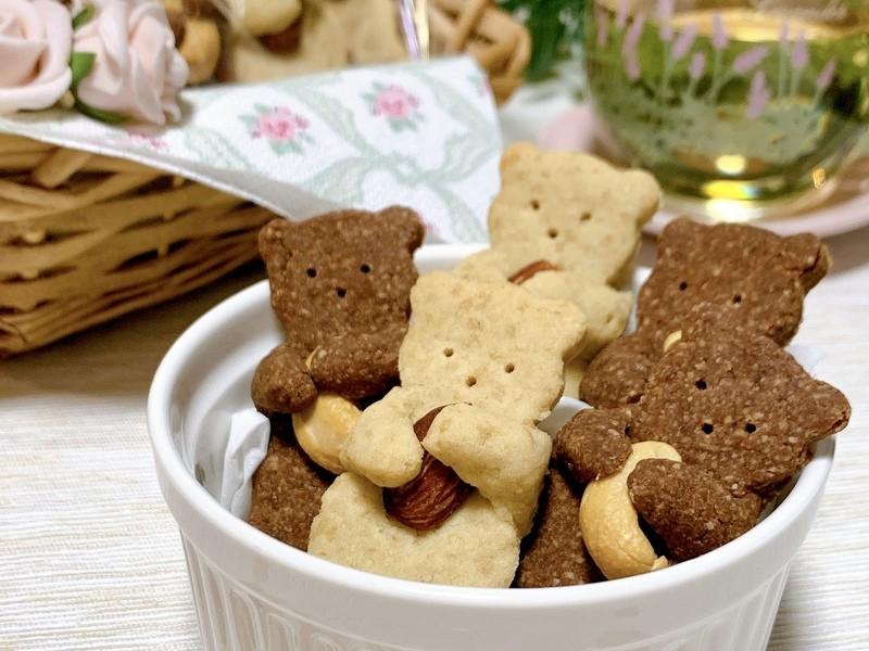 簡単でかわいい!ハーブを使ったグルテンフリーのくまさんクッキー♡の画像