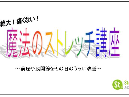 【sales!】「ストレッチレッスン」1000円の画像