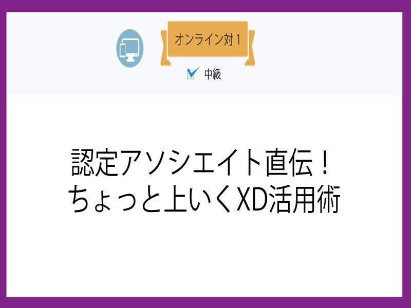 【オンライン対1】認定アソシエイト直伝!ちょっと上いくXD活用術の画像