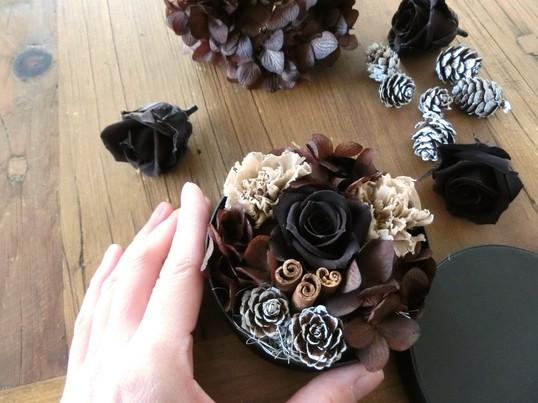 【バレンタイン期間限定☆】チョコレートみたいなフラワーボックス講座の画像