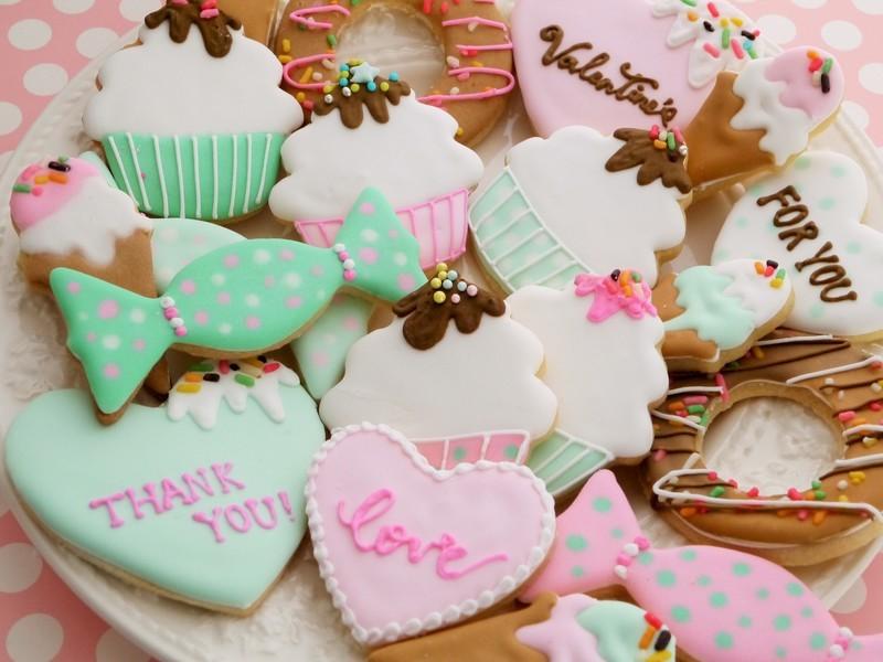 バレンタインアイシングクッキーレッスン♡の画像