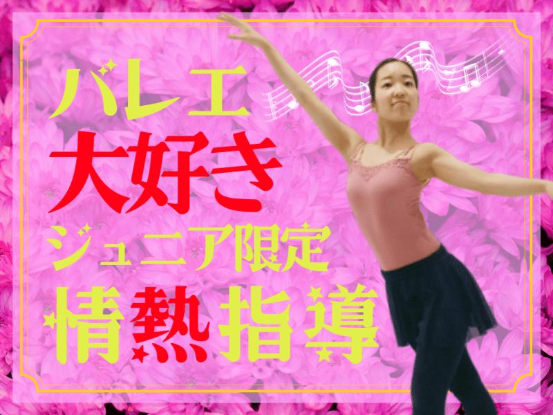 情熱指導【バレエ大好きジュニア限定】初心者だってアンドゥプリマ!の画像