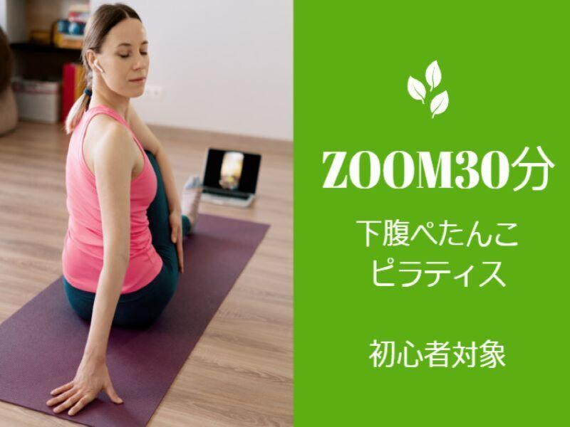【zoom下腹ぺたんこ30分】初心者対象!腹筋縦線自宅ピラティス!の画像