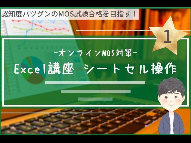 【オンライン】初心者向けExcel基本講座1< MOS対策対応 >の画像