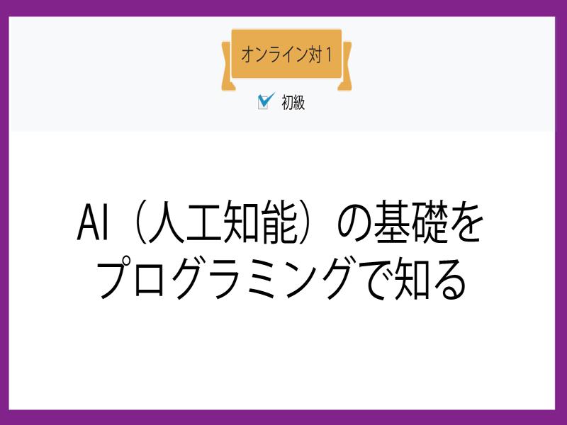 【オンライン対1】AI(人工知能)の基礎をプログラミングで知るの画像