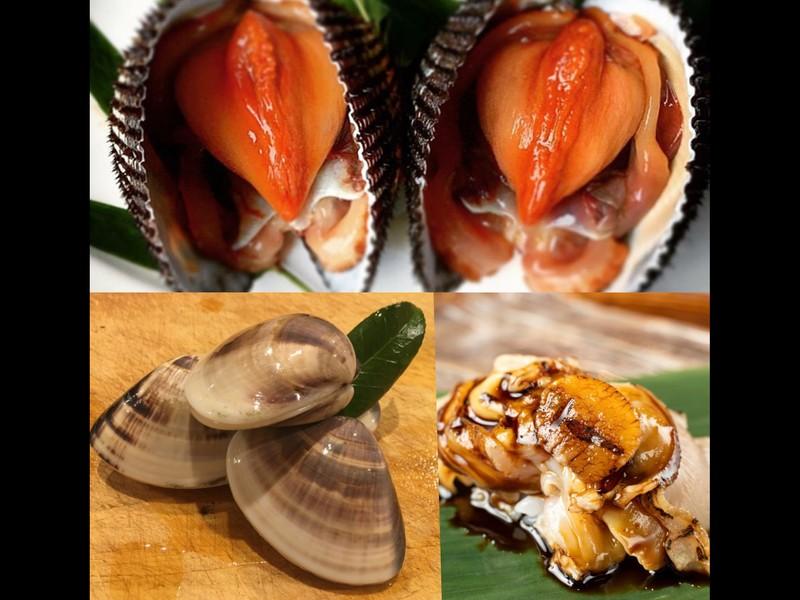 赤貝の処理と煮ハマグリを学びてまり寿司を作ろう!の画像