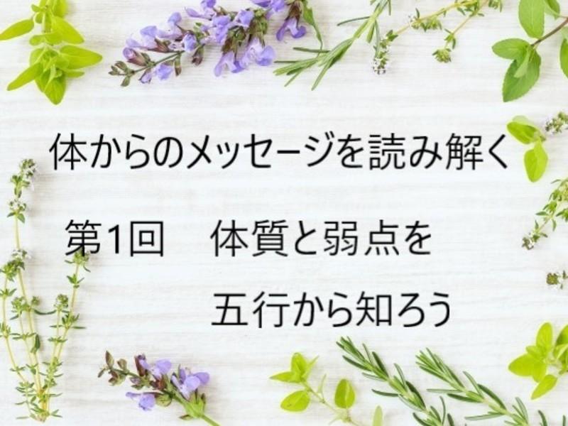 """体からのメッセージを読み解く はじめての""""中医学"""" 五行編の画像"""