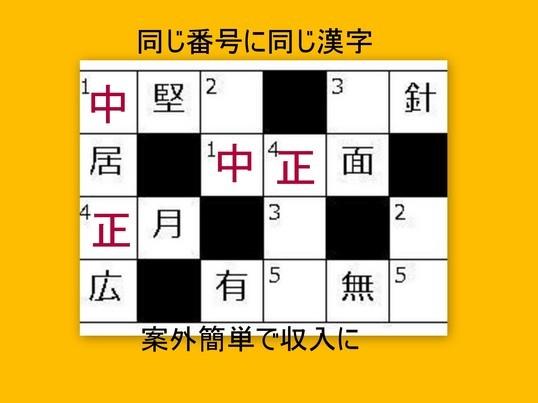 漢字パズル作家になって副収入  随時一人開催歓迎 の画像