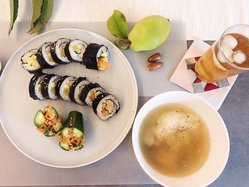 オンライン受講<基本の韓国料理>参鶏湯・オイキムチ・キムパ作りの画像