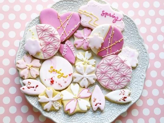春の桜アイシングクッキーレッスンの画像