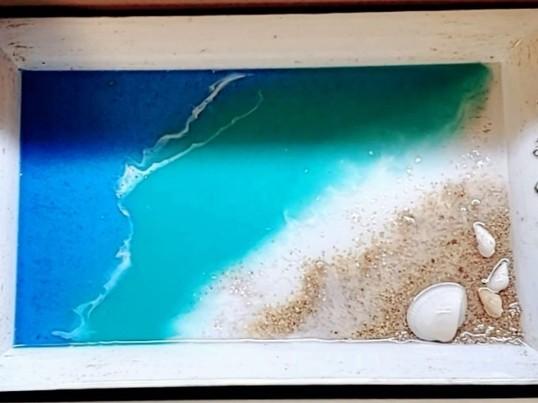 レジンアート 海トレイを作ろう!の画像