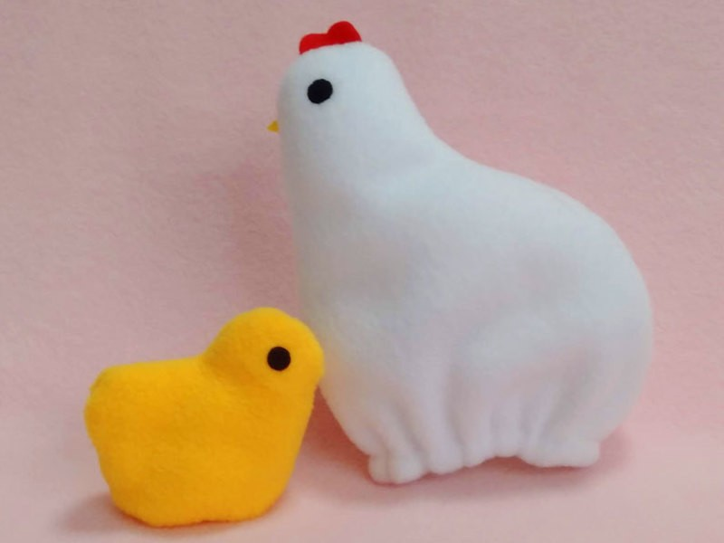 【オンライン講座】ふわふわ布おもちゃ「たまひよこっこ」を作ろうの画像