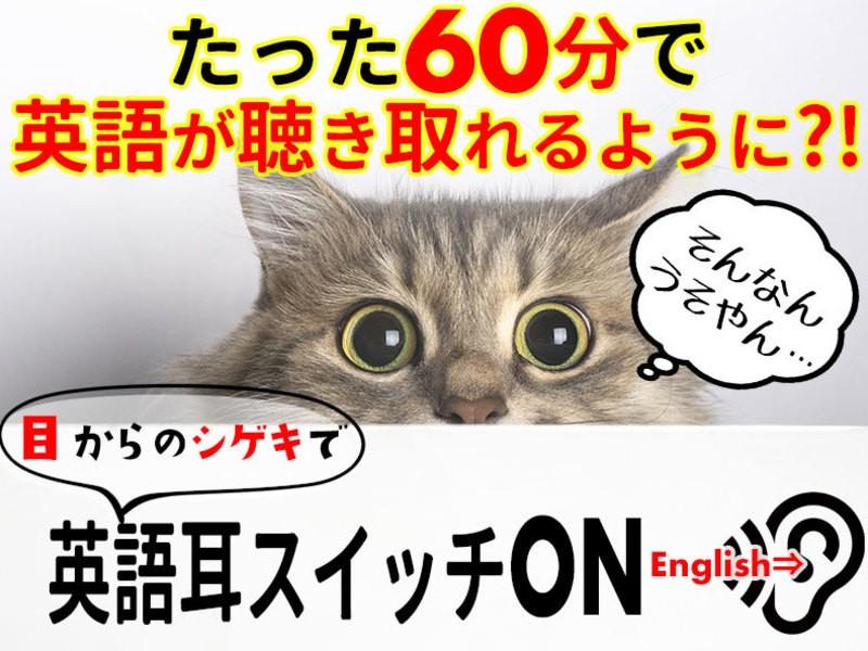 初心者OK!目からの刺激で英語が楽に聴き取れるリスニング改善講座の画像
