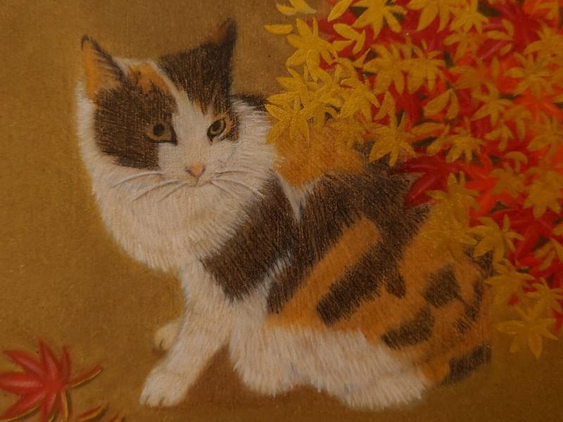★画材道具つきで簡単スタート★オンラインで猫の絵を描こう@木の板の画像