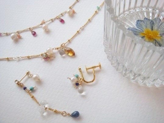 【自由が丘】鎖B / アコヤ真珠のピアス&押し花小物入れ作りの画像