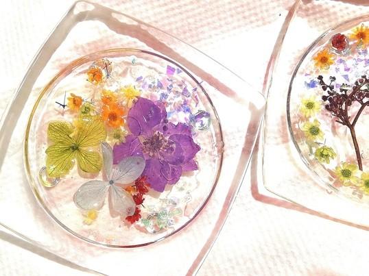 ~フラワー雑貨を作ろう~押し花でつくるコースターの画像