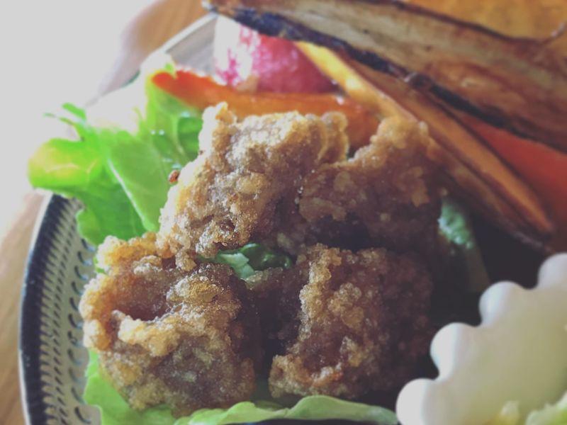 小麦粉肉大豆不使用なのにジューシーでサクサク!!!蒟蒻の唐揚げの画像